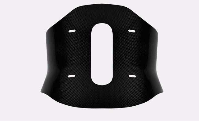 Profiled lumbar pelotte LSO made of carbon