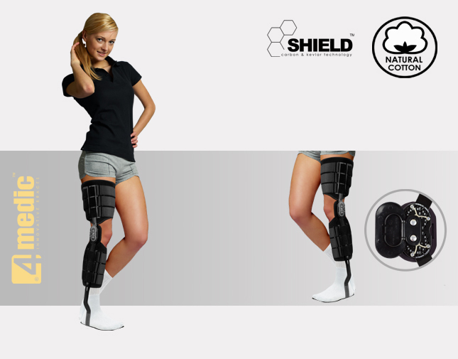 Modular brace for lower limb AM-KDS-AM/2R