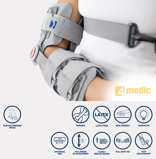 Redressing brace for elbow joint AM-KG-AM/1RE