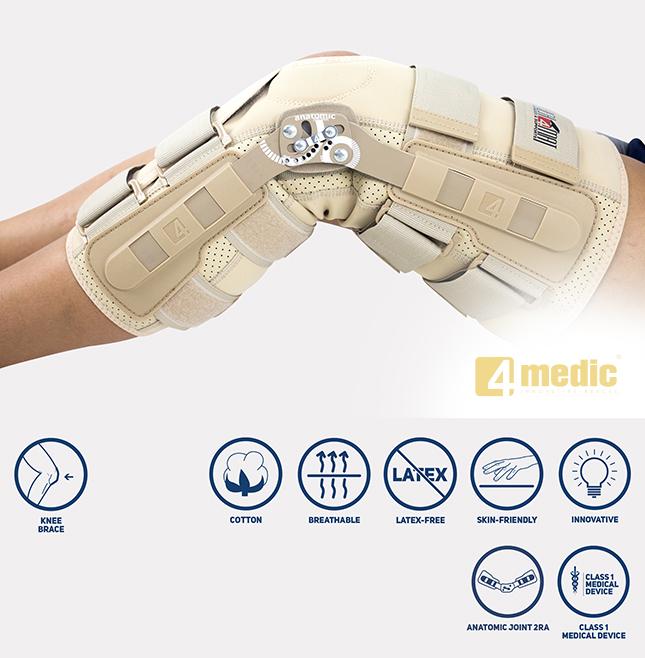 Long knee brace EB-SK/2RA
