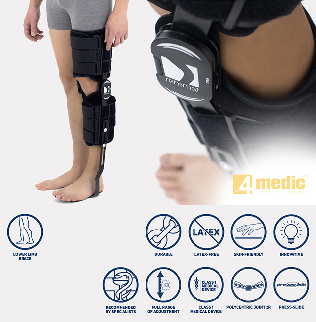 Lower limb brace AM-KDS-AM/2R