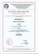 The certificate NCAGE