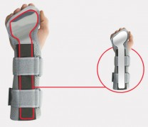 Positioning forearm and hand support with fingers separation AM-SN-LM