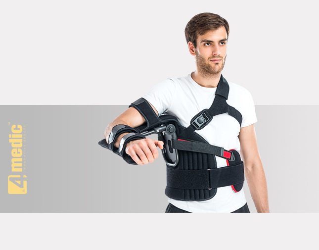 Arm abduction orthosis with angle regulation AM-AO-KG-01