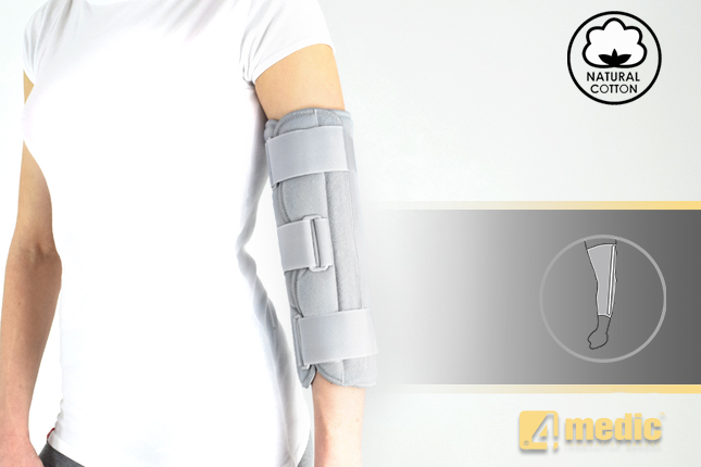 Plaster cast immobilizing elbow joint AM-TL-01