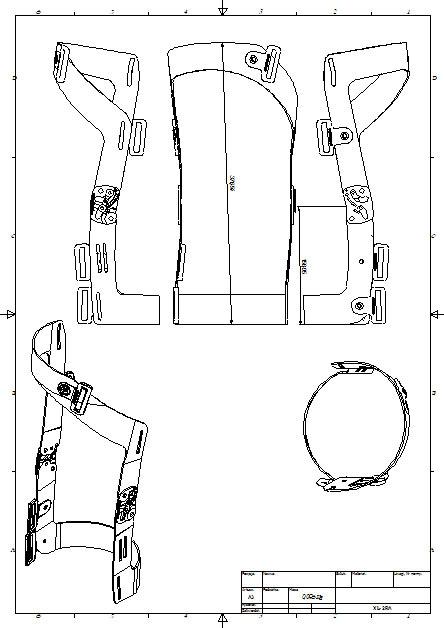 Przykład dokumentcji poglądowej do ortezy kolanowej RAPTOR