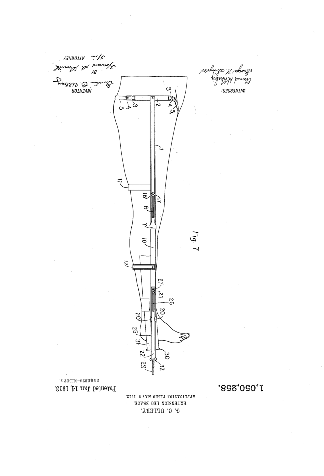 Design patent of the lower limb orthosis from 1913