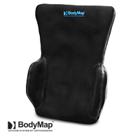 Backrest cushion with lateral supports BODYMAP B+