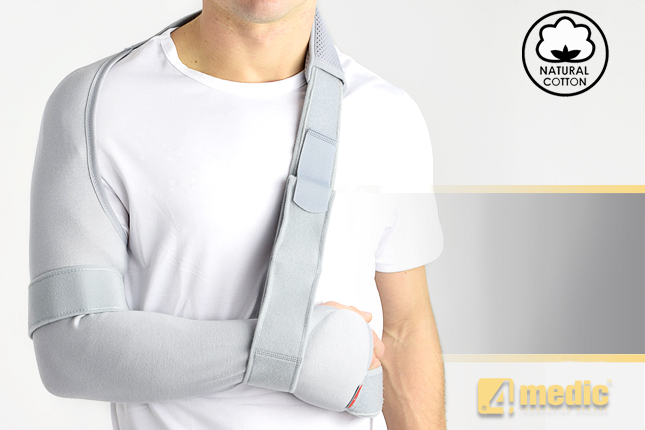 Shoulder and arm brace with elastic sleeve AM-SOB-07