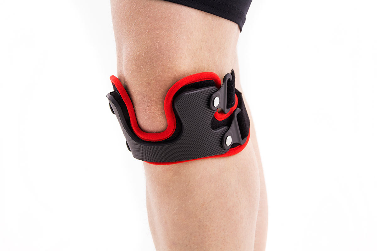 a2ee806c37 Kneecap brace for Patella Alignment OKD-25 is made of anatomic-shaped rigid  fabric with four rotating buckles.