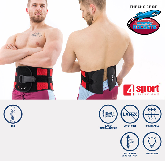 Back brace with CCA system AS-LK-02/CCA