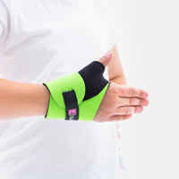 Wrist wrap with thermoplastic thumb stay FIX-KG-03