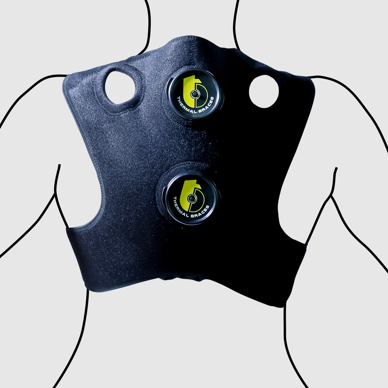 Ice cold therapy back brace TB-07