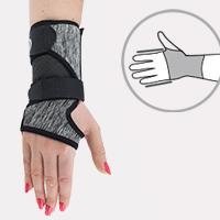 Wrist stabilization EB-N-01 BLACK MELANGE