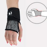 Wrist stabilization EB-N BLACK MELANGE