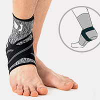 Ankle support EB-SS BLACK MELANGE