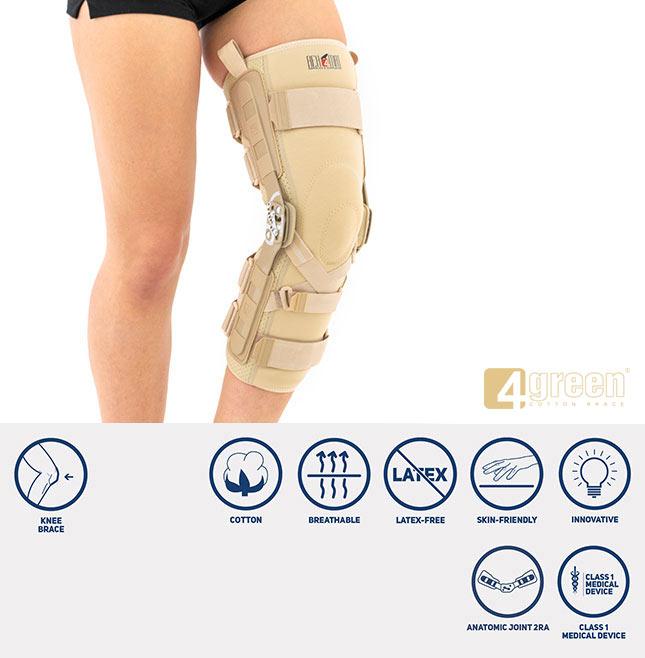 Long knee brace EB-SKL/2RA