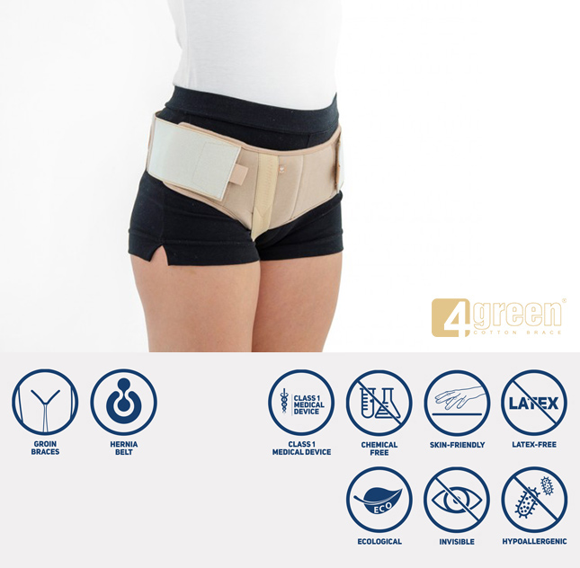 Inguinal hernia single support AM-1PP/D