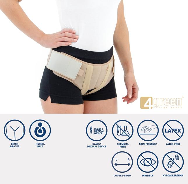 Double hernia belt AM-2PP/D